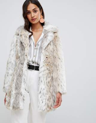 e2d2856debfd New Look faux fur snow leopard coat