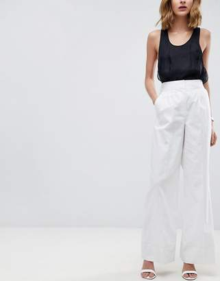 Asos DESIGN Tailored Clean Linen Wide Leg Pants