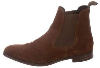 Loake 1880 Suede Square-Toe Chelsea Boots