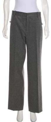 Valentino High-Rise Wide-Leg Pants Grey High-Rise Wide-Leg Pants
