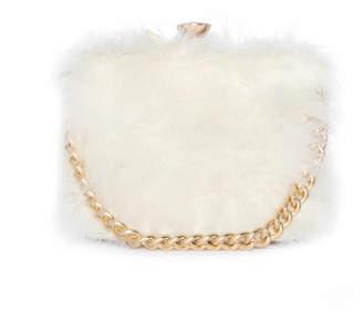 7090f123f4f5 Missy Empire Missyempire Esra Cream Faux Fur Chain Hand Bag