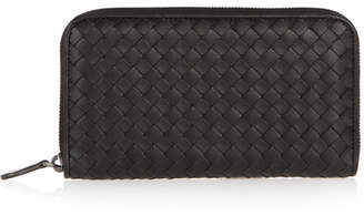 Bottega Veneta Intrecciato Leather Continental Wallet - Black