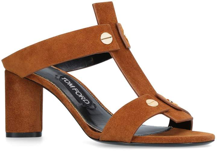 TOM FORD T-Bolt Mule Sandals 65, Beige, IT 38