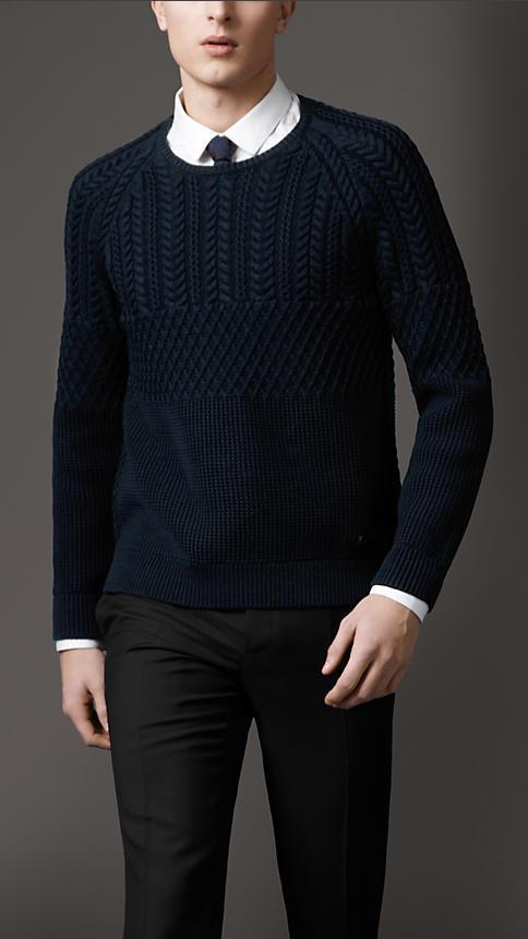 Burberry Cotton Aran Knit Sweater