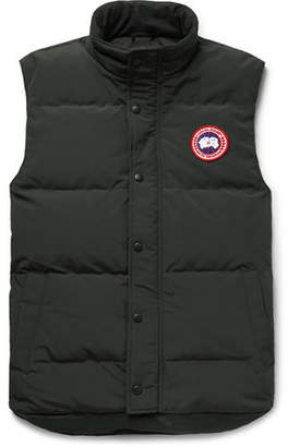Canada Goose Garson Slim-fit Quilted Shell Down Gilet - Dark green