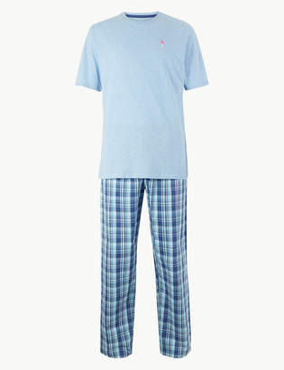 M&S CollectionMarks and Spencer 2in Longer Pure Cotton Flamingo Print Pyjama Set