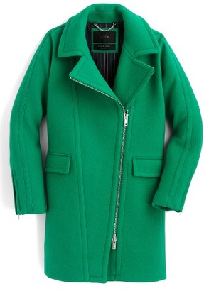 Women's J.crew Devin Stadium Cloth Wool Blend Coat $365 thestylecure.com
