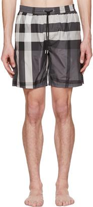 Burberry Grey Check Swim Shorts $295 thestylecure.com