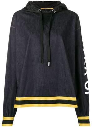 NO KA 'OI No Ka' Oi logo sleeve hoodie