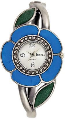 JCPenney Decree Fashion Hinged Cuff Flower Watch