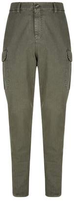 Brunello Cucinelli Washed Cotton Cargo Trousers
