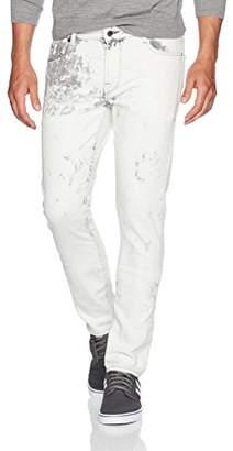 GUESS Men's Skinny Destroy Jeans in Dusty Wash Pink