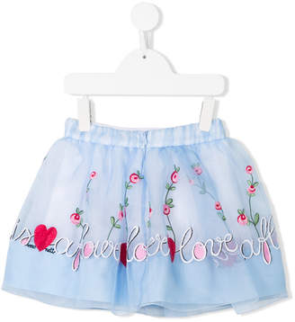 Simonetta love embroidered tute