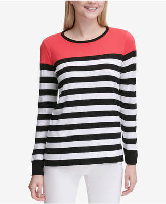 Calvin Klein Colorblocked Striped Sweater