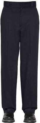 Prada 25cm Cotton Twill Trousers W/Logo