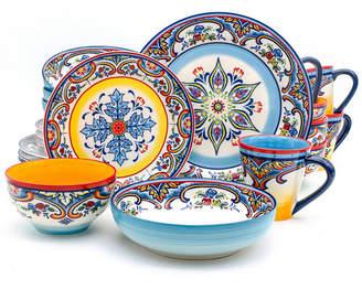 EuroCeramica Zanzibar 20 Piece Stoneware Dinnerware Set