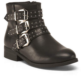 Triple Buckle Ankle Booties