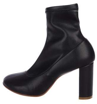 Maison Margiela Leather Round-Toe Ankle Boot