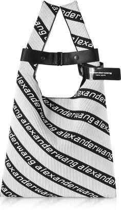 Alexander Wang Kint Jacquard Logo Soft Striped Canvas Shopper