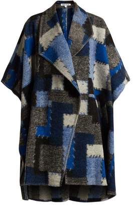 Elizabeth and James Pinchot Patchwork Wool Cape - Womens - Indigo