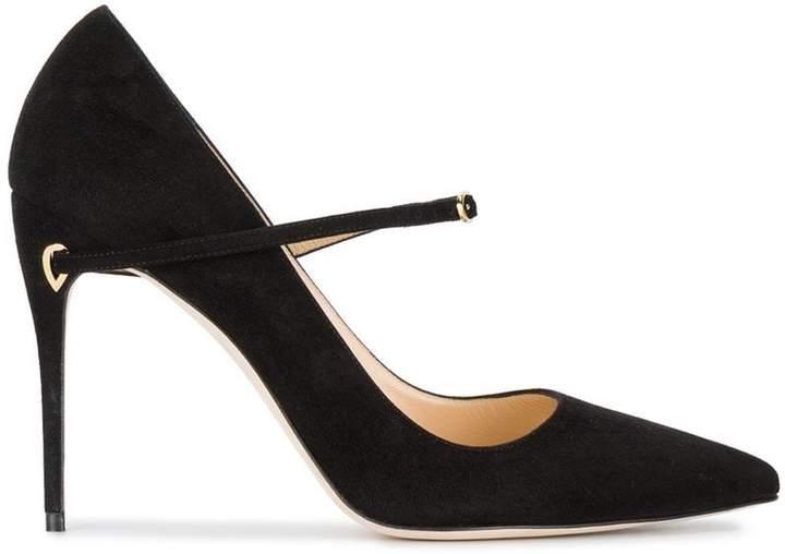 Jennifer Chamandi Black Suede Lorenzo 105 Heels