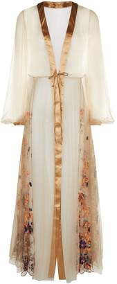I.D. Sarrieri Embroidered Long Robe