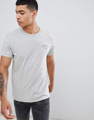 Jack Wills Clayesmoore logo t-shirt in gray