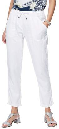 Casual Club The Collection - White Linen Jogging Bottoms