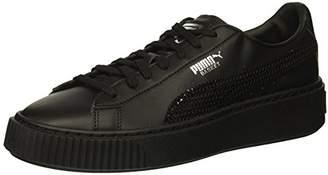 Puma Unisex Basket Platform Bling Kids Sneaker