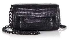 Nancy Gonzalez Mini Crocodile Chain Crossbody Bag