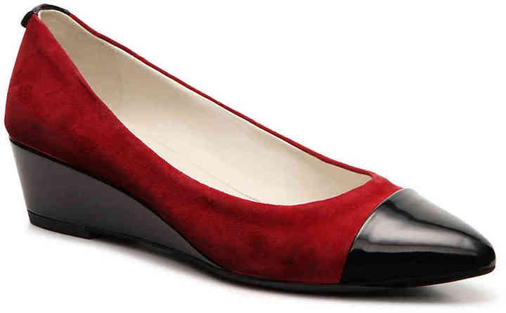 Anne KleinWomen's Valicity Wedge Pump -Red/Black