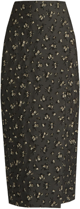 BROCK COLLECTION Floral-jacquard pencil midi skirt $850 thestylecure.com