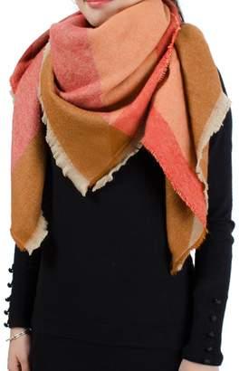 Wenseny Womens Scarves Wrap Shawl Multicolored Fashion Tartan Square Scarf