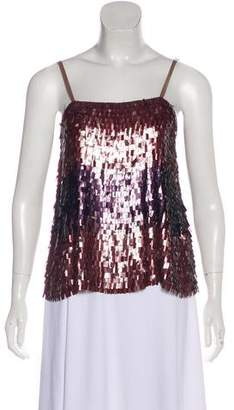 Alice + Olivia Sleeveless Sequin Top