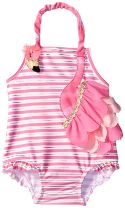 Mud Pie - Flamingo Ruffle Swimsuit Girl's Swimsuits One Piece $37 thestylecure.com