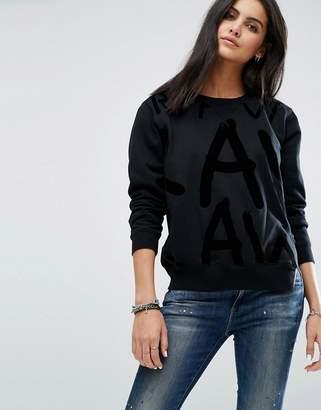 G Star G-Star Logo Sweatshirt With Exposed Zip