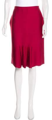 RED Valentino Ruffle-Accented Knee-Length Skirt w/ Tags