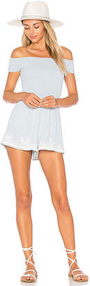 LSPACE L*SPACE Nanette Romper in Baby Blue $129 thestylecure.com
