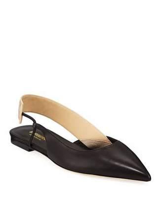 Burberry Marie Asymmetric Slingback Ballet Flats