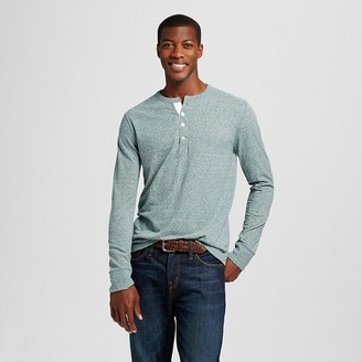 Merona Men's Solid Long Sleeve Henley $14.99 thestylecure.com