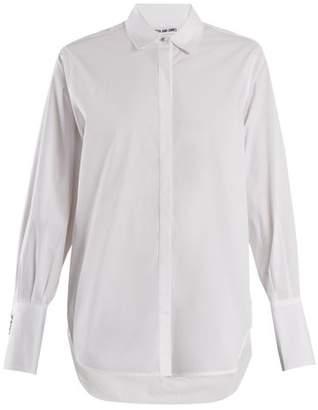 Elizabeth and James Jasper Cotton Blend Poplin Shirt - Womens - White