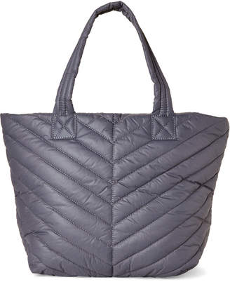 Urban Expressions Grey Kickoff Quilted Nylon Tote