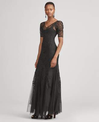 Ralph Lauren Ale Embroidered Tulle Dress