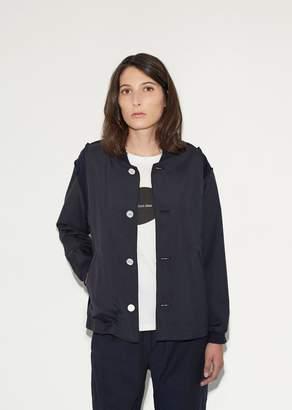 Julien David Tropical Wool Varsity Jacket Navy