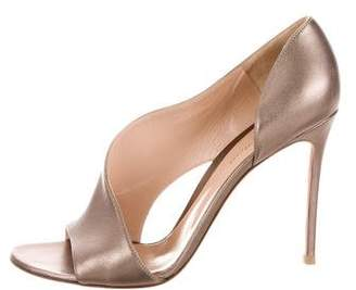 Gianvito Rossi Leather Peep-Toe Sandals