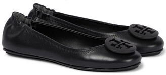 Tory Burch Minnie leather ballerinas