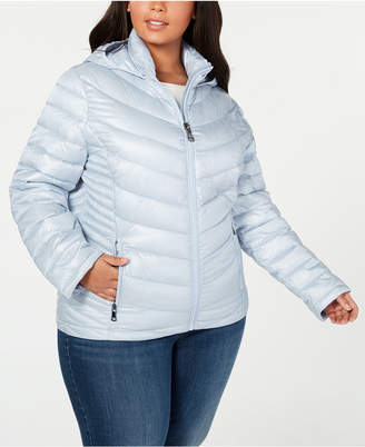68f7609f21a Calvin Klein Plus Size Hooded Packable Puffer Coat