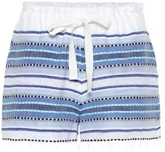 Lemlem Welela striped cotton-blend shorts