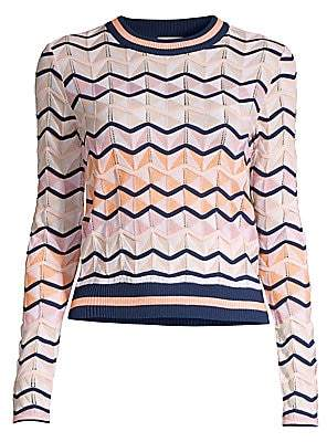M Missoni Women's Chevron Wool-Blend Knit Sweater