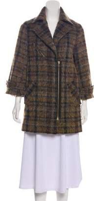 Veronica Beard Short Wool-Blend Coat